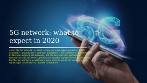 5G network what to expect in 2020
