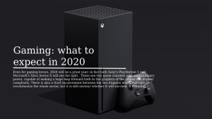 Gaming what to expect in 2020