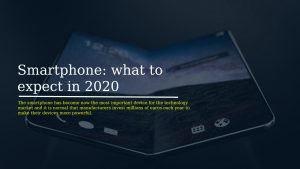 Smartphone what to expect in 2020