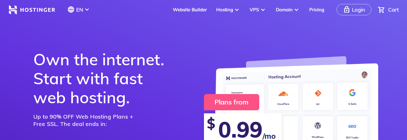 Hostinger - Top 10 Web Hosting Companies in 2020 | Detailed Review