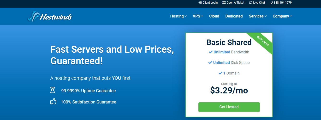 Hostwinds - Top 10 Web Hosting Companies in 2020 | Detailed Review