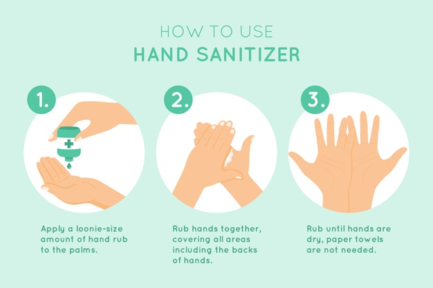 how use hand sanitizer infographic 23 2148472866 - How to Quarantine Yourself and Control the effect of Coronavirus