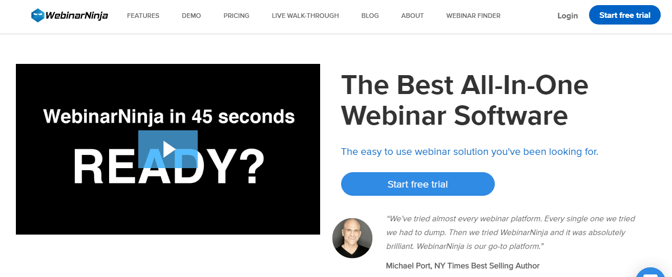 WebinarNinja - 14 Best Webinar Software Tools in 2020 (Ultimate Guide for Free)