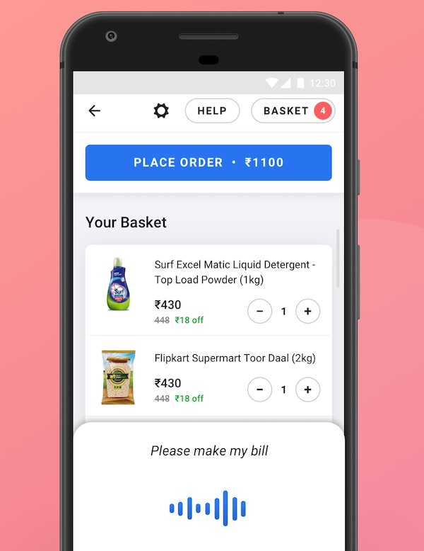 flipkart voice assistant - Walmart's Flipkart rolls out voice assistant to make shopping easier