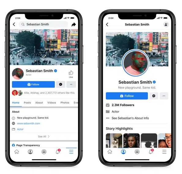 facebook profile - Facebook tests a new Page design with a cleaner layout and no more 'Like' button
