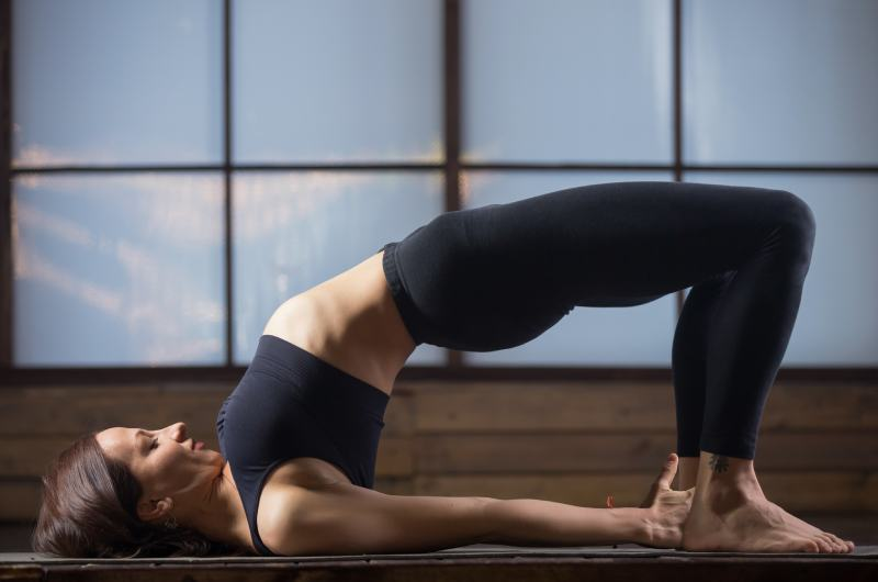 Bridge Pose - Best Yoga Positions for Knee Pain