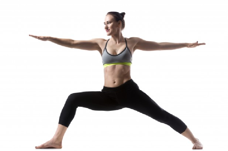 Peaceful Warrior Pose 1 - Best Yoga Positions for Knee Pain