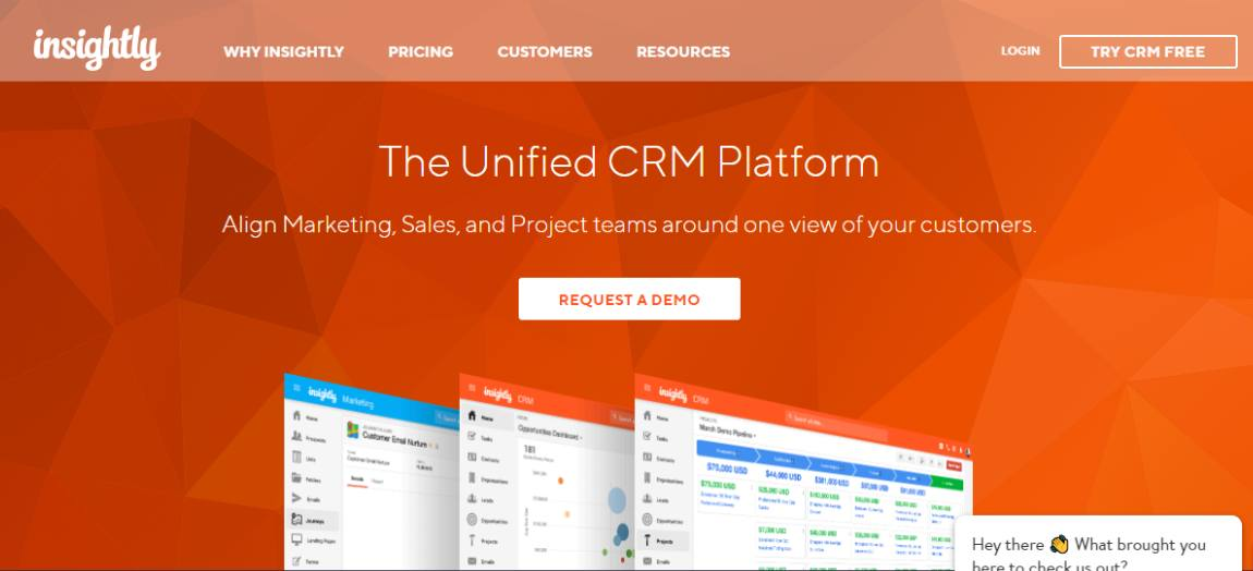Insightly - Best CRM software for 2021