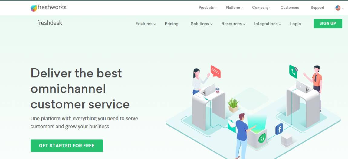 freshdesk - Best CRM software for 2021
