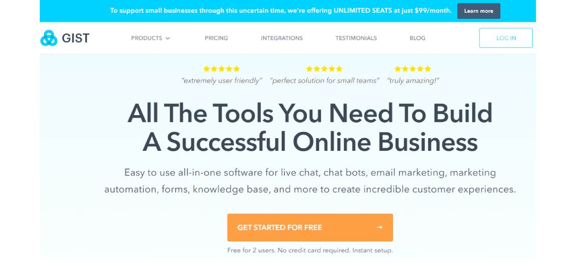 gist - Best 10 Email Marketing Tools in 2021